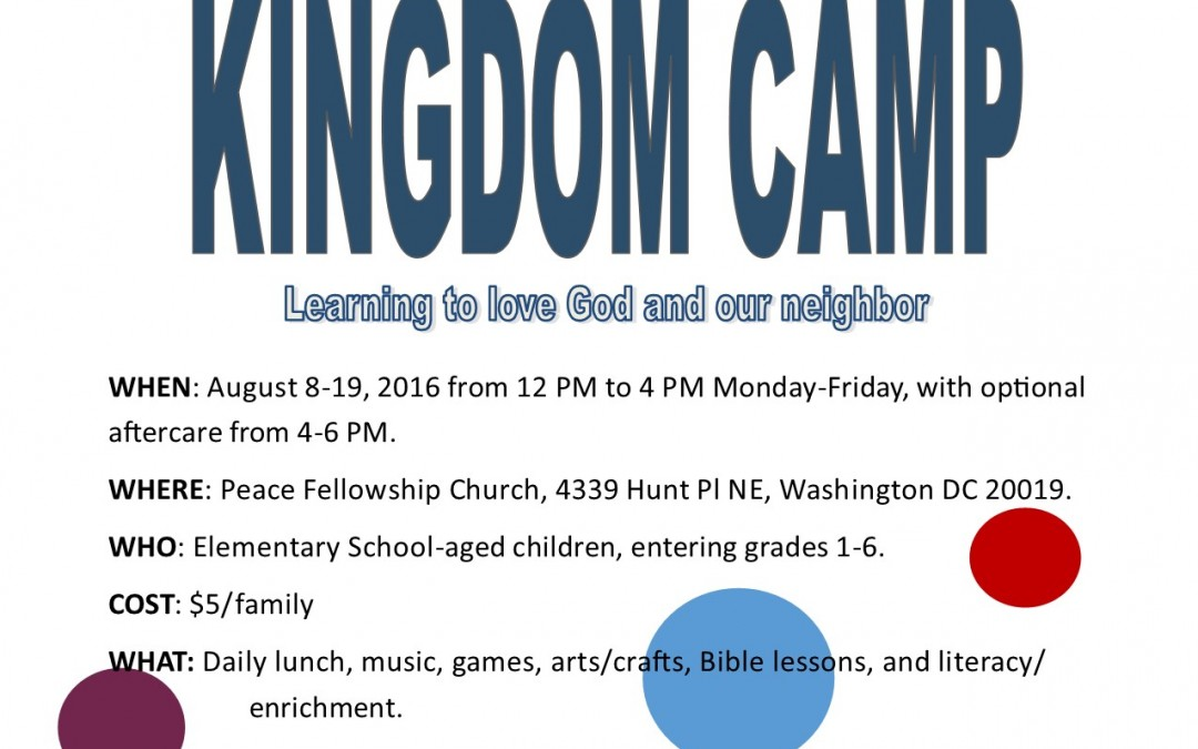 Register for Kingdom Camp Now!