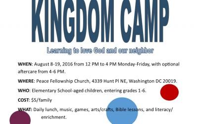Register for Kingdom Camp Now!