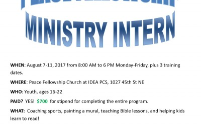 Summer Ministry Internship