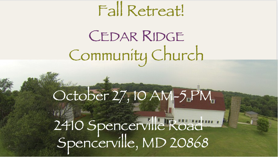 Register for Church Retreat on October 27